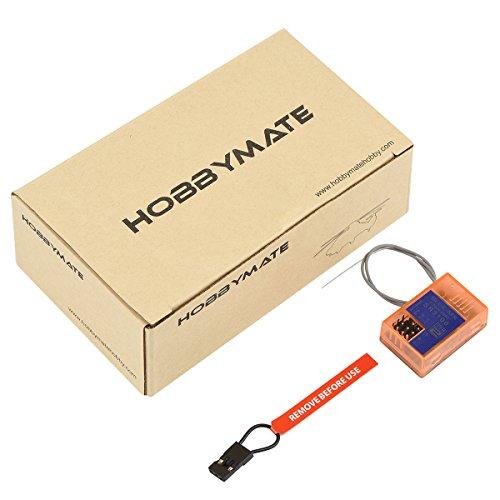 HOBBYMATE SR3100 DSM2 DSMR Receiver 3 Channels, Compatible with DX2L DX2E DX3E DX2S DX3S DX3R DX4C DX5C Radio Transmitter