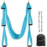 UpCircleSeven Aerial Yoga Swing Set - Ceiling Mount Accessories - Yoga Hammock Kit - Ceiling Hanging Yoga Sling - Inversion Swing for Beginners & Kids