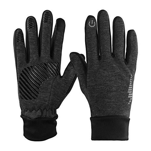 ODLICNO Touchscreen Handschuhe, Touch Gloves Smartphone Winterhandschuhe Radhandschuhe rutschfest für Radfahren Motorradfahren Wandern Outdoor Aktivitäten für Damen und Herren (Dunkelgrau, XL)