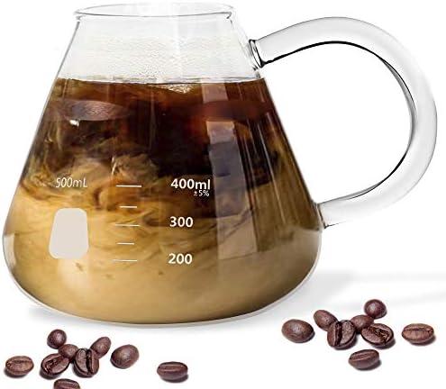 Erlenmeyer Flask Mug Beaker Coffee Mug with Measurements Borosilicate Thick Durable Glass 16 product image