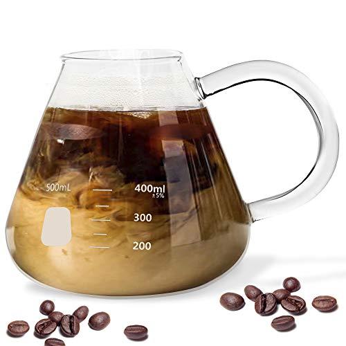 Erlenmeyer Flask Mug - Beaker Coffee Mug with Measurements - Borosilicate Thick Durable Glass 16.9oz...