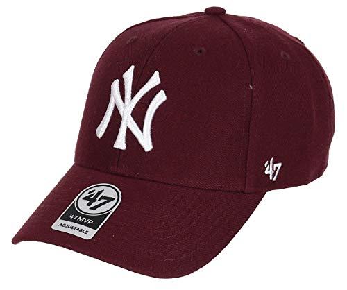 47 New York Yankees Adjustable Cap MVP MLB Dark Maroon - One-Size