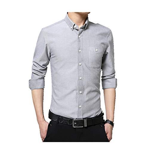NOBRAND - Camisa de manga larga para hombre, estilo casual