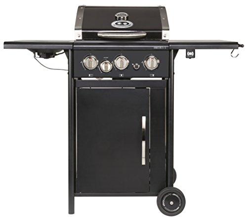 Preisvergleich Produktbild Outdoorchef HAMILTON 3G + schwarz BBQ Gasgrill Grillstation,  3 Brenner mit Seitenbrenner,  18.131.25