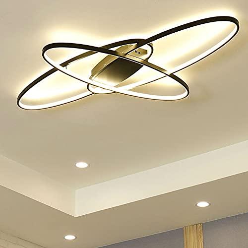 Lampada da Soffitto Ovale a LED Dimmerabile per Camera da Letto Soggiorno Lampada a Sospensione Moderna di Design Lampada da Tavolo da Pranzo Colore e Luminosità Regolabile Telecomando Illuminazione