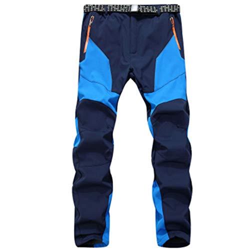 Drying Den Pantalon de Sport Thermique pour Homme en Plein air pour Homme, imperméable, Coupe-Vent, Pantalon de randonnée, Pantalon de Ski, Pantalon de Ski Blue Asian Size 3XL