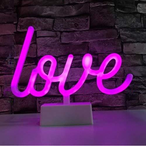 LED Neon Lights Tafellamp Letter Sign Art Nachtlampje Decoratief voor Vakantie Bruiloft Bar Winkel Slaapkamer Kamer Raam Open Woorden Decor, Liefde