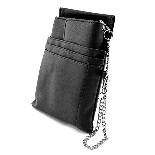nean nean Kellner-Taxi-Geld-Börse-Portemonnaie mit Holster-Steck-Tasche und Bild