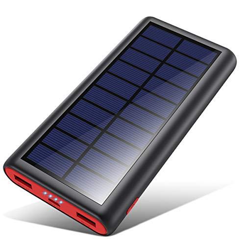 VOOE Solar Powerbank 26800mAh Externer...