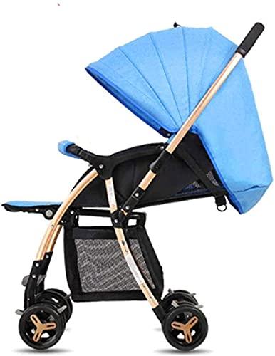Duwen Carrito de bebé, carrito de compras de dos vías de aleación de aluminio ligero, carro portátil de cuatro ruedas, adecuado para cortador de compras de cuatro ruedas, amortiguadores de choque, col