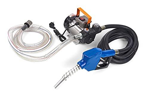Dieselpumpe Heizölpumpe 230v selbstansaugend, Saugschlauch 2m, Förderschlauch 4m, Ölpumpe Bio Diesel 230V Automatik Pistole 60L/min