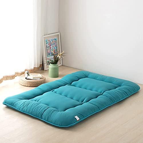 DNGDD Alfombrilla de Tatami para Dormir, Almohadilla de colchón de futón Atami Transpirable, Suave y Grueso, Rollo de Cama japonés para colchón de Dormitorio de Estudiantes, 1 m × 2 m (39 Pulgadas