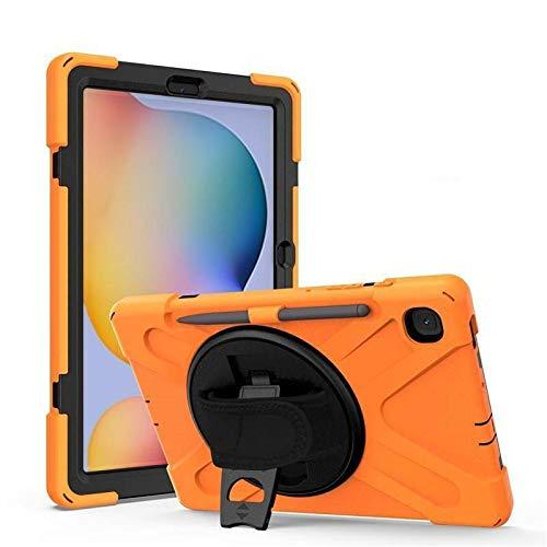 Case2go - Funda para Samsung Galaxy Tab S7 (2020) - SM-T870 / SM-T875 / SM-T876 - Carcasa resistente a los golpes con soporte giratorio - Naranja