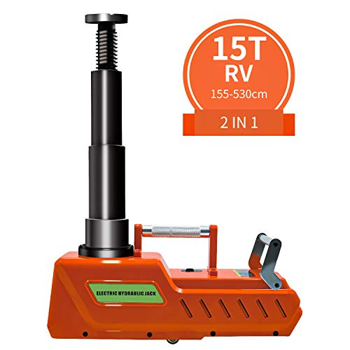 E-HEELP Electric Car Jack, 12V DC Heavy Duty Electric Hydraulic Car Floor Jack with LED Light for RV, Sedan, Van, SUV, Trucks, (7.8-20.4 inches)