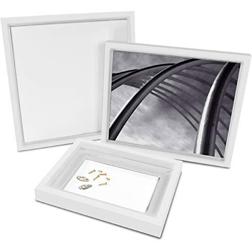 Besthobby Bilderrahmen für Keilrahmen - weiß (54x54cm (50x50cm)) Bilderrahmen Keilrahmenbilder Leinwand Hochzeit Künstlerbedarf Bild Rahmen