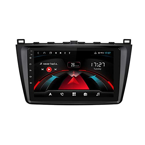 TypeBuilt para Mazda 6 2 3 GH 2007-2012 Android 8.1 Head Unit 2 DIN 9' GPS Navegación Cámara De Respaldo Estéreo De Coche Audio FM/Am/RDS Radio Video Player WiFi Bluetooth SWC,4cores,1G+16G