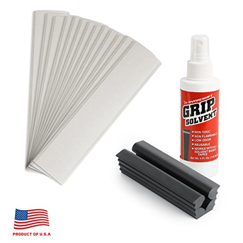 Dynacraft Complete Golf Grip Kit for Regripping Golf Clubs - 13 Grips (Grips not Included) - Includes 13 Each 2' x 10' Grip Tape Strips, Grip Solvent and Rubber Vise Clamp to Regrip 13 Clubs