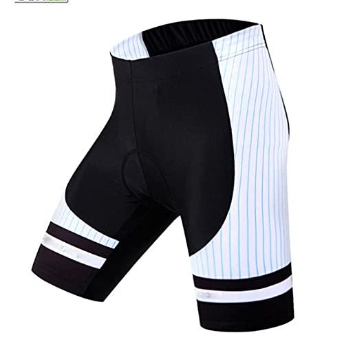 Pantalones cortos de bicicleta de secado rápido con acolchado de gel, medias de los hombres pantalones cortos de ciclismo verano, malla reflexiva transpirable carreras MTB Ropa interior antideslizante