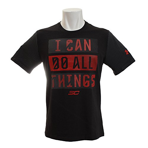 Under Armour SC30 I Can Do All Things Camiseta para Hombre, Hombre, SC30 Hombres Puedo Hacer Todas Las Cosas, 1305757, Negro (001)/Rojo, Large