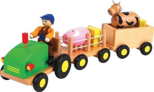 New Classic Toys Tracteur et Remorque Animaux de la Ferme