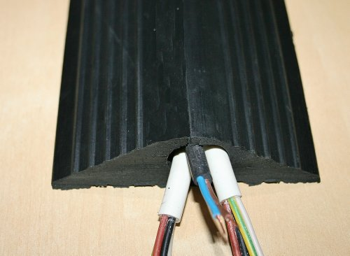 Heavy Duty Black Rubber Floor Cable Cover