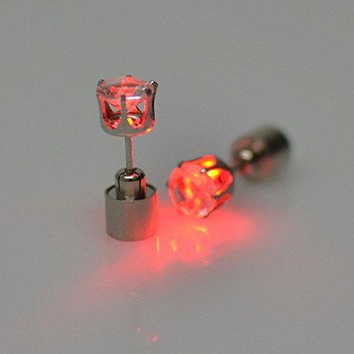 Luz LED en forma de pendientes pendientes Ohringe con luz