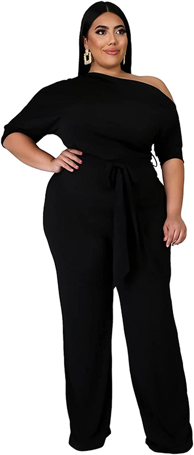 OLUOLIN Women's Sexy gift Plus Size Waist Piece Shoulder Inventory cleanup selling sale High One