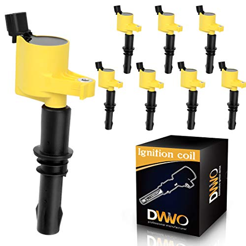 DWVO Ignition Coil Pack Compatible with 05-08 Ford Expedition Explorer F150 F250 F350 Mustang, 06-08 Mercury Mountaineer, Lincoln Mark - Navigator - Set of 8