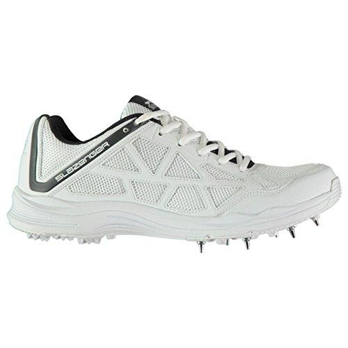 Slazenger Kinder V Series Cricket Schuhe Spikes Weiß/Holzkohle 36 2/3 EU