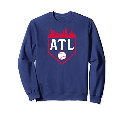 Atlanta Baseball ATL Vintage Home Plate Skyline Brave Gift Sweatshirt