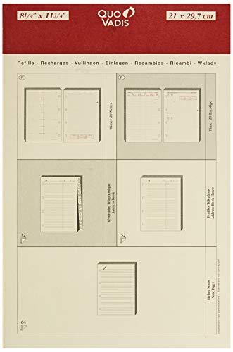 Quo Vadis 270004Q Timer 29 notities kalender / afsprakenplanner voor navulling voor S/F 21 x 29,7 cm 2013 in het Frans