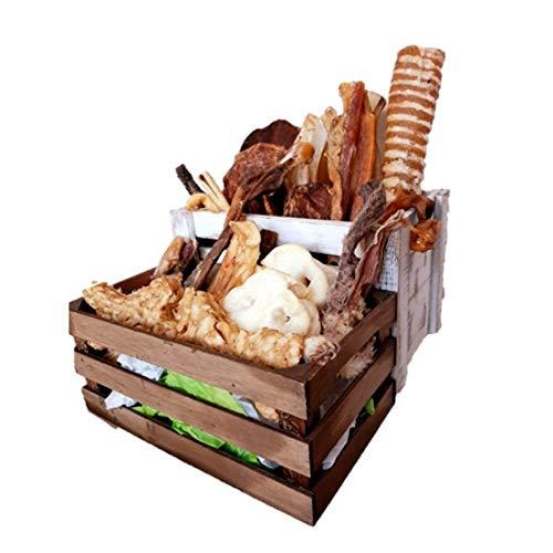 ALPHA SPIRIT Pack Snack Natural para Perros Medianos y Grandes - Chuche y Premio - 30 Premios para un Mes Entero | Sin Cereales, aditivos ni conservantes