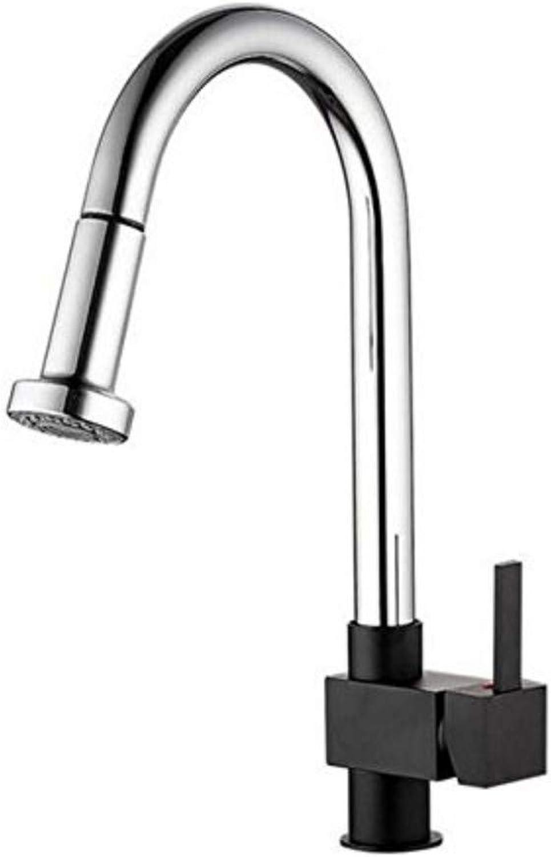 Bathroom Sink Basin Lever Mixer Tap Kitchen Faucet Pull Out Single Handle Swivel Spout Vessel Sink Mixer Tap