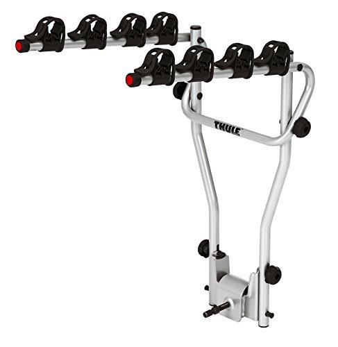 Thule HangOn 4, einfacher Fahrradträger zum Kippen und einfach zu bedienende Anhängerkupplung (für 4 Fahrräder).