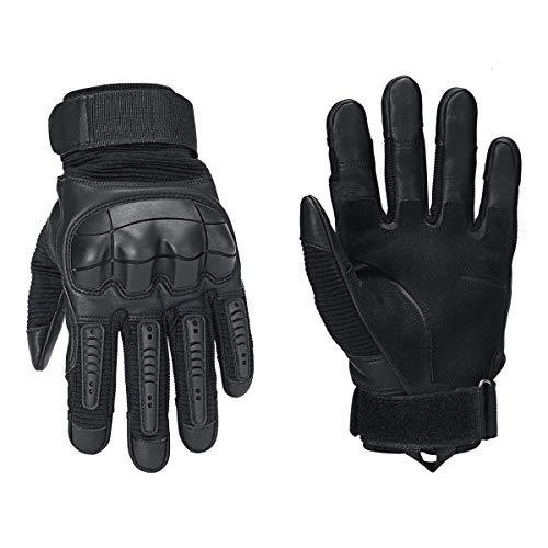 AMZIJ Gloves1 Paar Mikrofaser Gummi Unisex Vollfingerhandschuh Winter Outdoor Sport Warmer Handschuh Motocross Schutzhandschuhe M