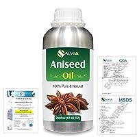 Aniseed (Pimpinella anisum) 100% Natural Pure Essential Oil 2000ml/67 fl.oz.