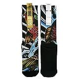 Gold Ink Custom Novelty Elite Socks Gift With Koi Fish Tattoo Art Print Size 6-12