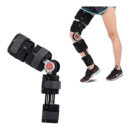 RJDL Orthopädische Scharnier Knieorthese, Länge verstellbar for Bein oder Knie Schädigung Splint Wrap Orthopädische Schutz-Schutz 917 (Color : S)