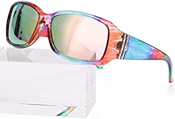 Enafad Trendy Rhinestone 100% UV Protection Sunglasses