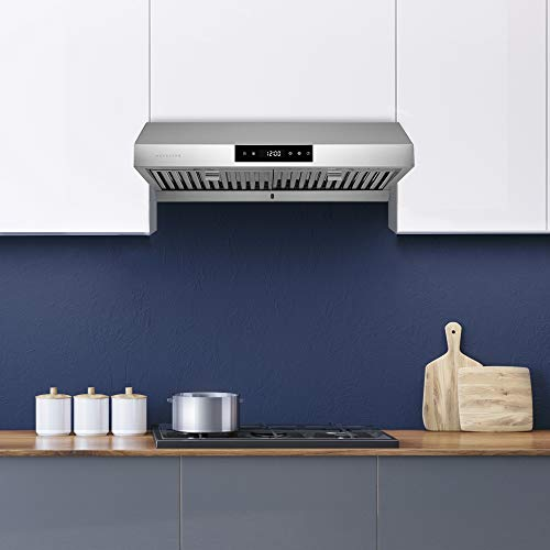 "Hauslane | Chef Series 30"" PS18 Under Cabinet Range Hood, Stainless Steel 