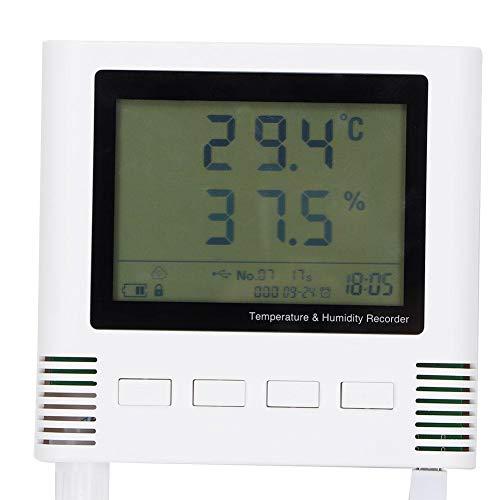 Digitales Hygrometer, ± 0,2 ℃ ± 2% Relative Luftfeuchtigkeit 26W Lebensmittel-Thermometer-Feuchtigkeitsmesser-Anzeige Präziser Temperatur-Feuchtigkeits-Monitor, USB Zum Transport Automatisch Hochladen