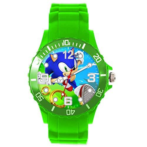 Taport® Quarzuhr grün Silikon für Sonic The Hedgehog Fans E3