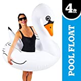 Flotador cisne en forma de aro inflable marca BIG MOUTH