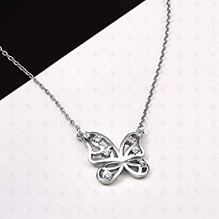 Necklace, Artificial Butterfly, Rose Gold Jewelry, Fashion Trend Jewelry, European and American Ornaments (Color : Gold) Girls Necklace (Color : White)