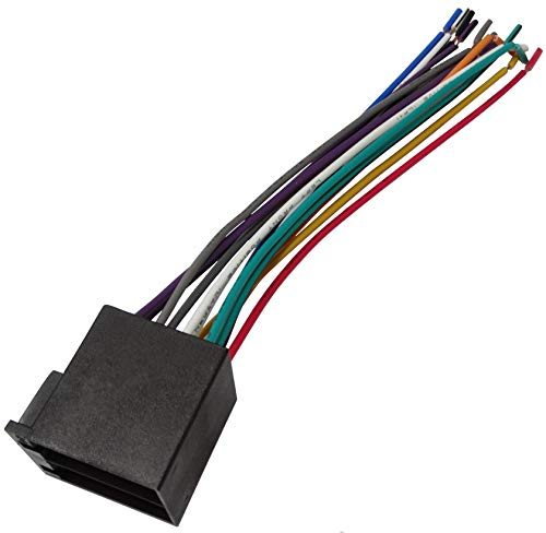 Aerzetix - Connettore spina ISO 13 pin 8 + 5 per autoradio, precablata, fascio universale alimentazione + suono per altoparlanti casse acustiche .