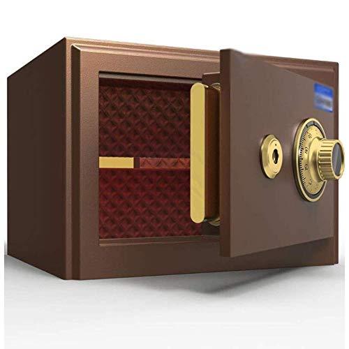 GGDJFN Caja fuerte de seguridad, pequeña caja de llaves mecánica para documentos de identificación, documentos A4, ordenadores portátiles, joyas 35 x 30 x 25 cm