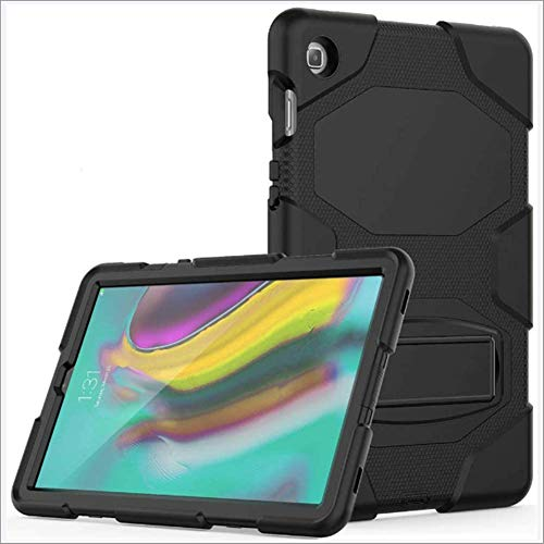 DUDUCHUN Tab S5e 10.5 Case, Heavy Duty Rugged Full Body Shockproof Case for Galaxy Tab S5e 10.5 Case 2019 SM-T720/T725, with Built-In Kickstand,Black