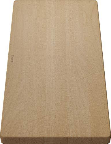 Blanco 218313 houten snijplank van massief beuken, bijpassende spoelbak, accessoires voor de wastafel in de keuken, beukenhout