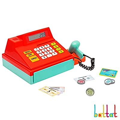 Battat – Toy Cash Register for Kids, Toddlers – 49pc Play Register with Toy Money, Credit Card, Scanner – Calculating Cash Register – 3 Years + from Branford Ltd.