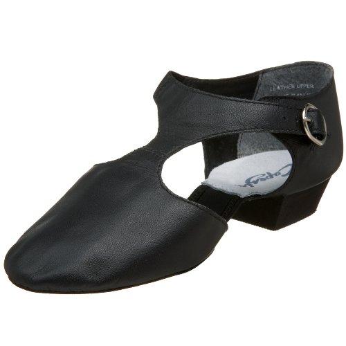 Pedini Tanzschuh griechische Sandale Ballettschuh von Capezio, Schwarz, 37 EU / 7 Monate